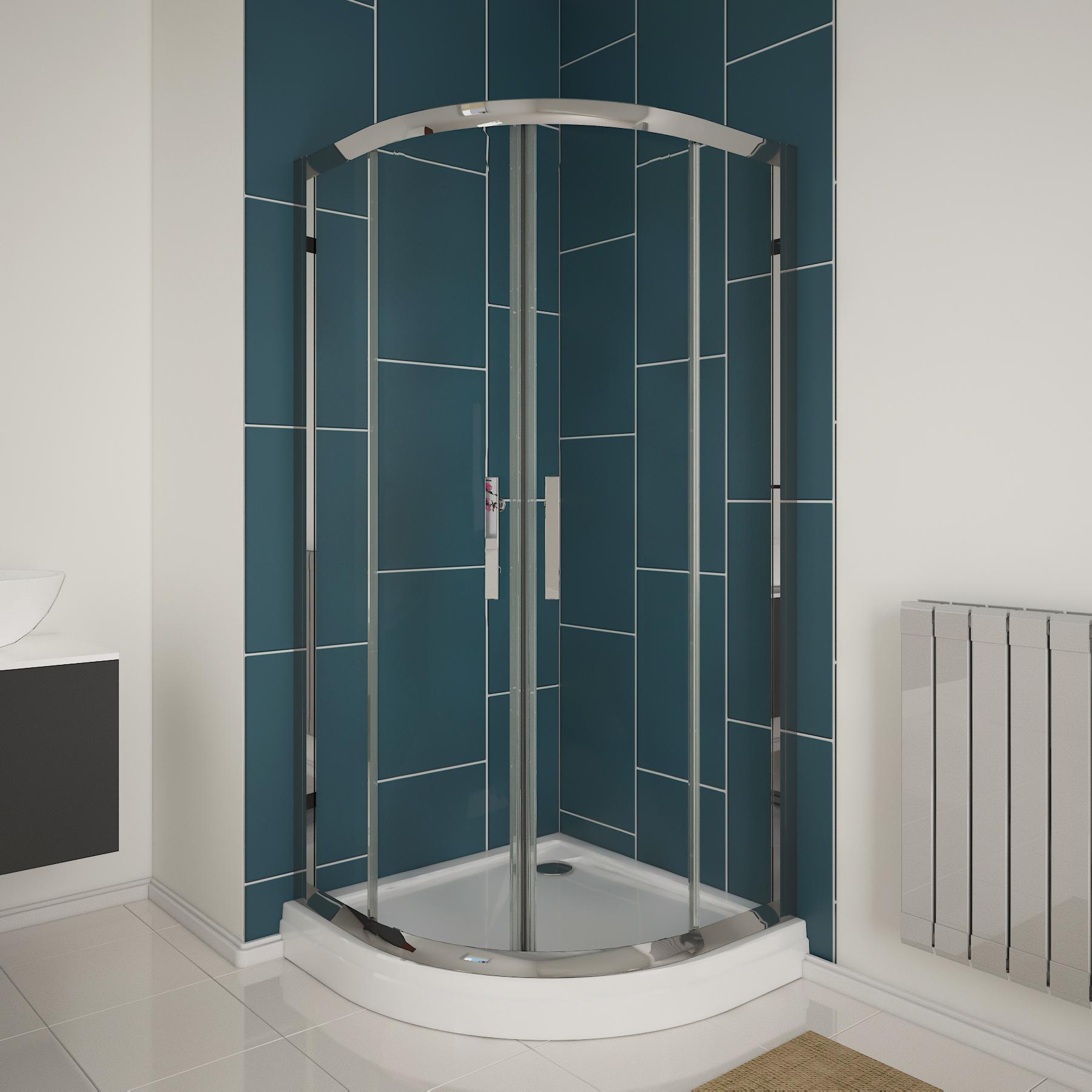 New 6mm glass quadrant shower enclosure walk in corner for 1150mm shower door