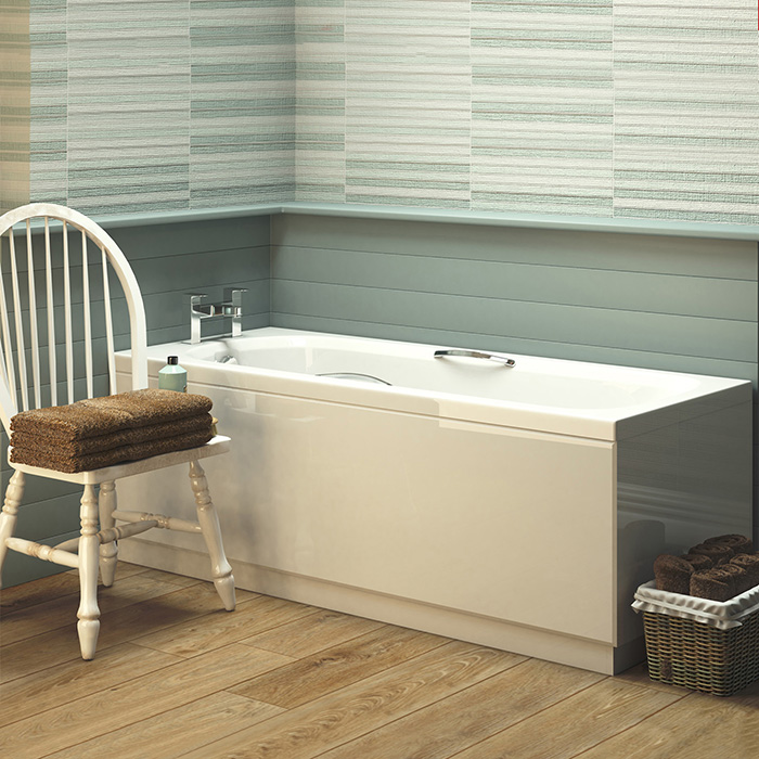 NEW Marshall Single Ended White Bathtub Acrylic Straight Bath ...