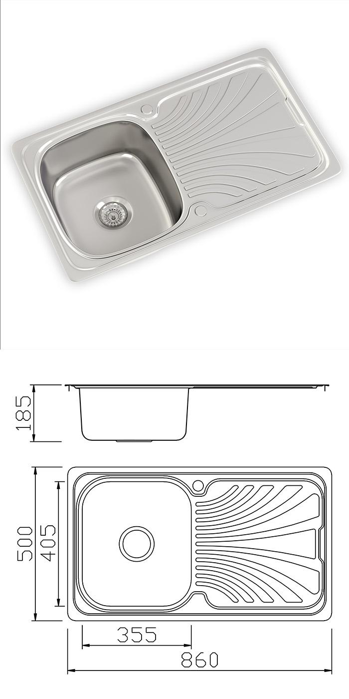 Stainless Steel Single 1 5 Bowl Reversible Kitchen Sinks Drainer Waste Taps Ebay