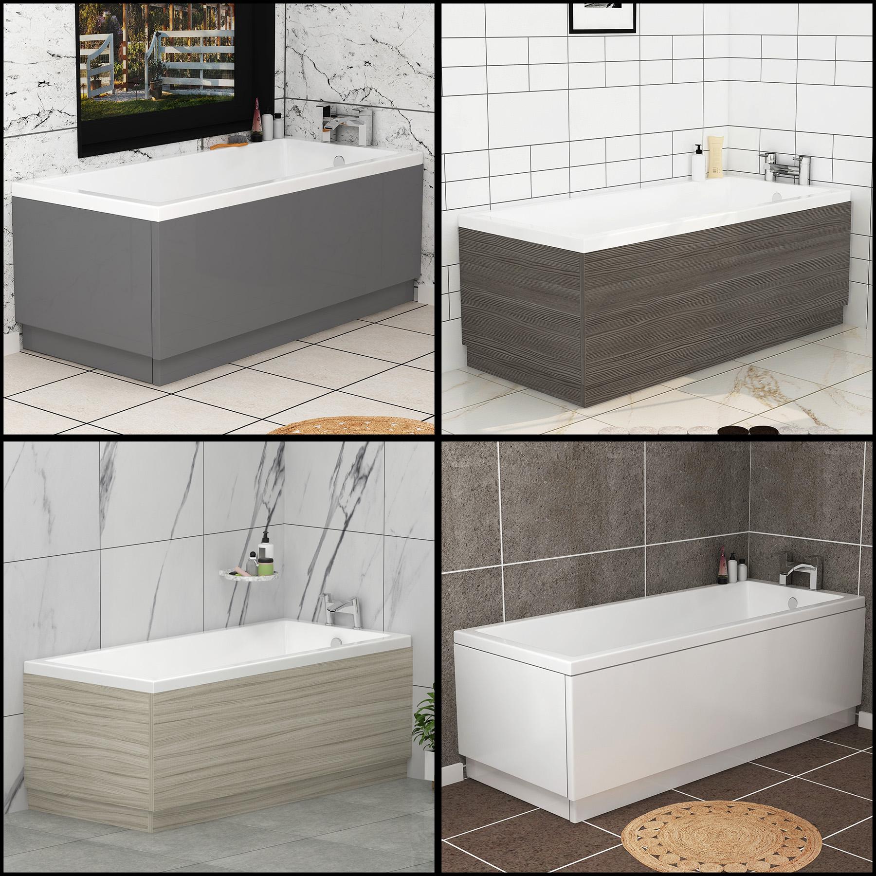 Modern Bathroom Mdf Front And End Adjustable Bath Panels