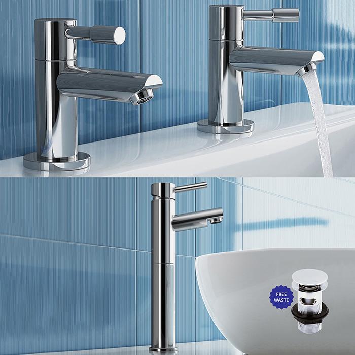 Bathroom Sinclair & Waterfall Bath Filler Shower Mixer Basin Sink ...