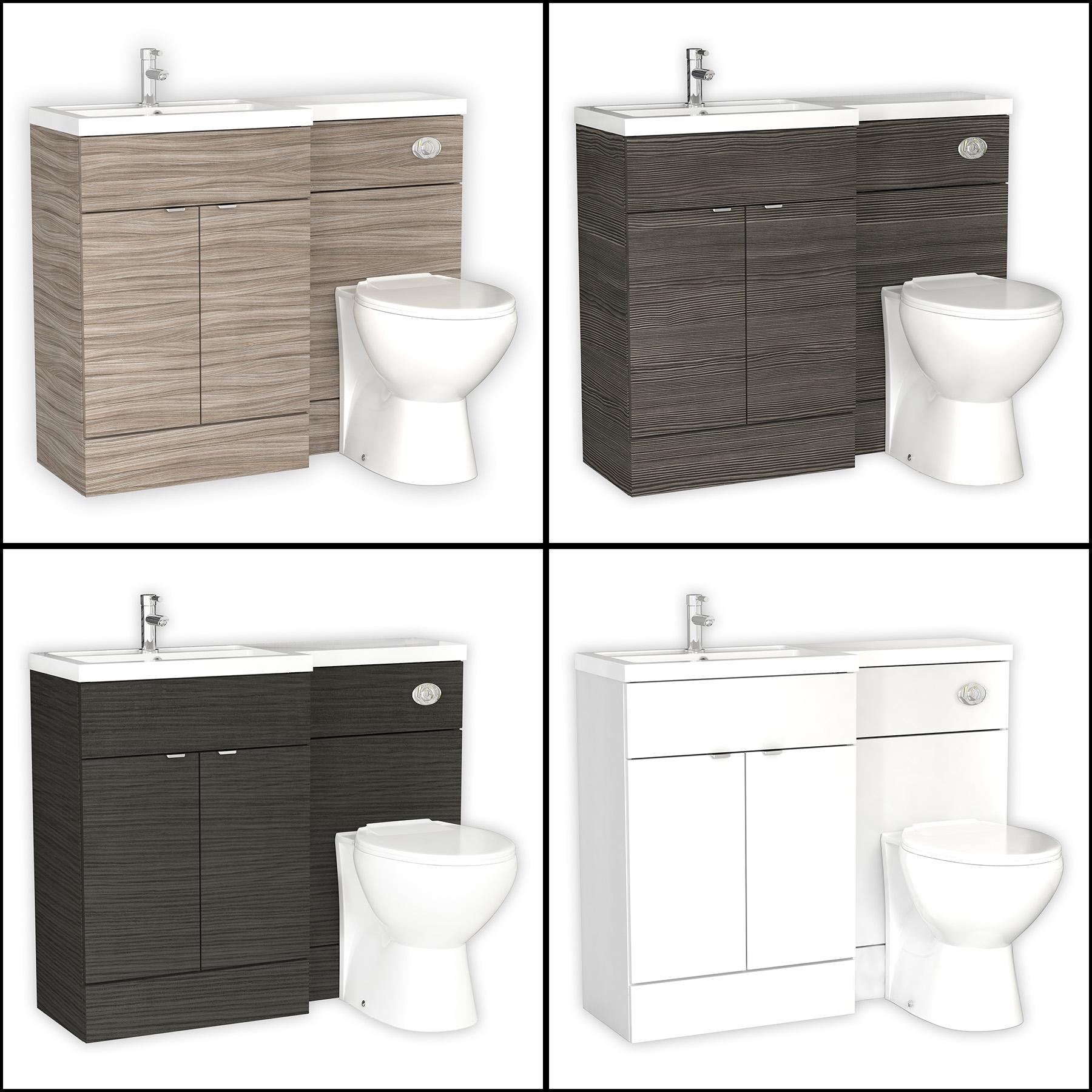 1100mm Hudson Reed L Shape Bathroom Furniture Packs Vanity WC Unit ...