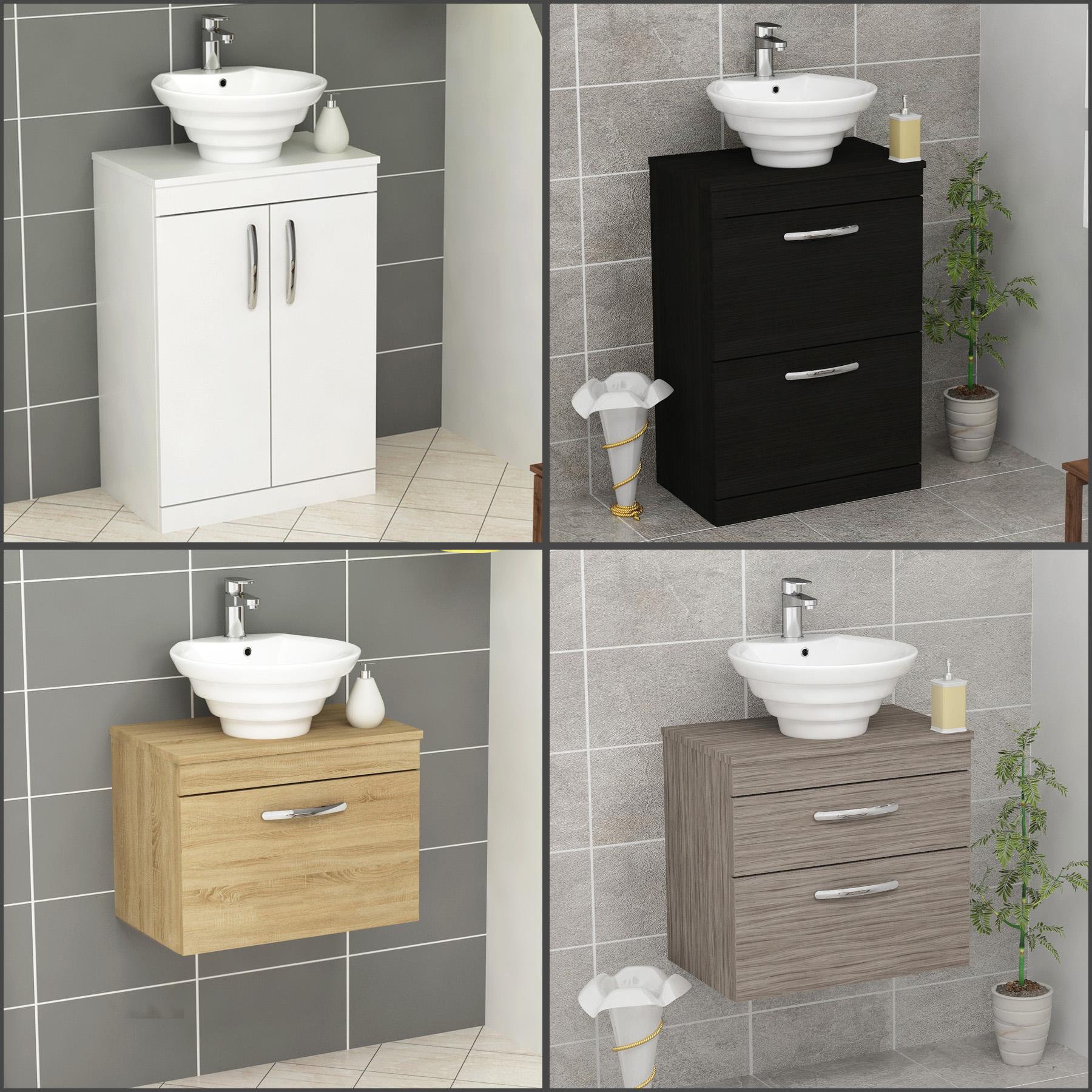 Bathroom Vanity Unit Cabinet Storage Countertop Worktop Basin Sink