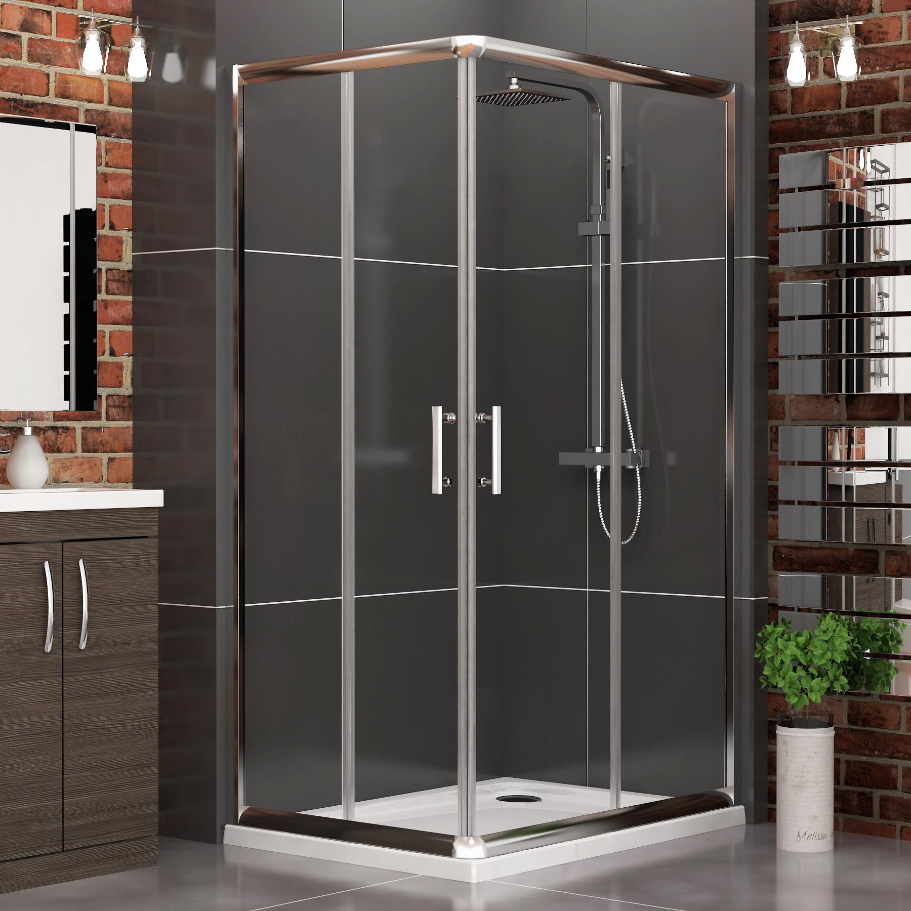 6mm Modern Corner Entry Glass Sliding Door Cubicle Shower Enclosure ...