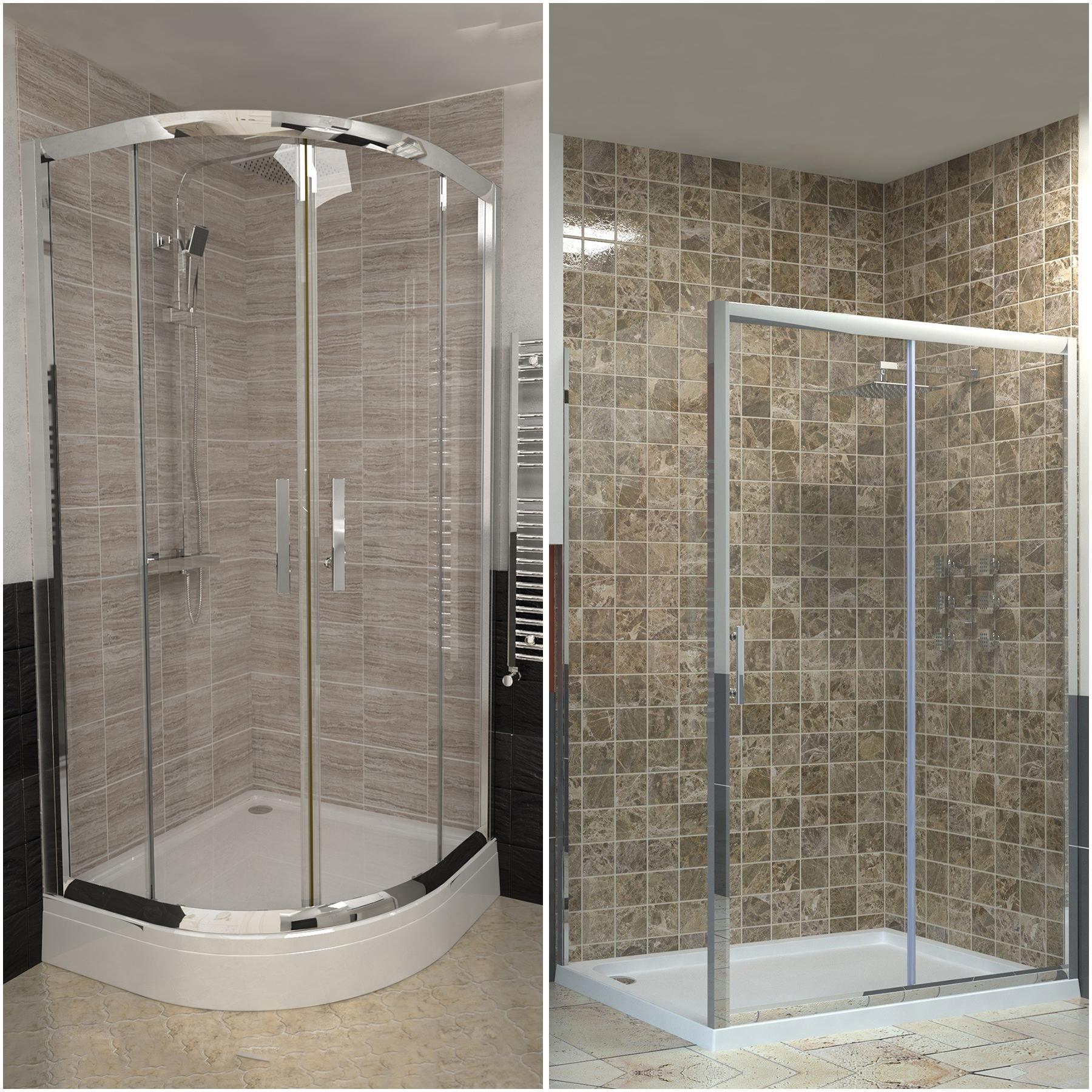 Easy Walk In Glass Quadrant Corner Sliding Door Shower