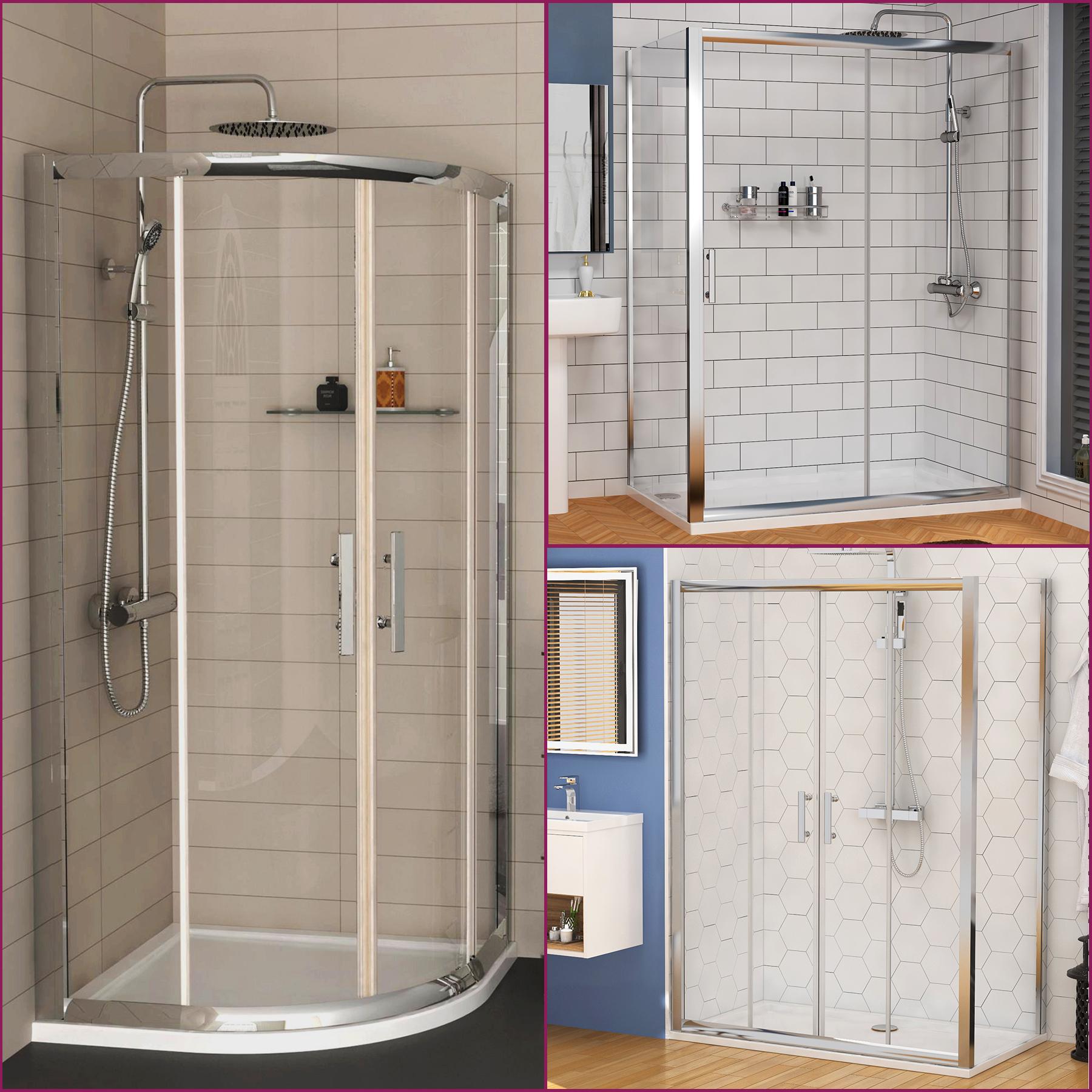 Quadrant Sliding Door Shower Enclosure Walk In Glass