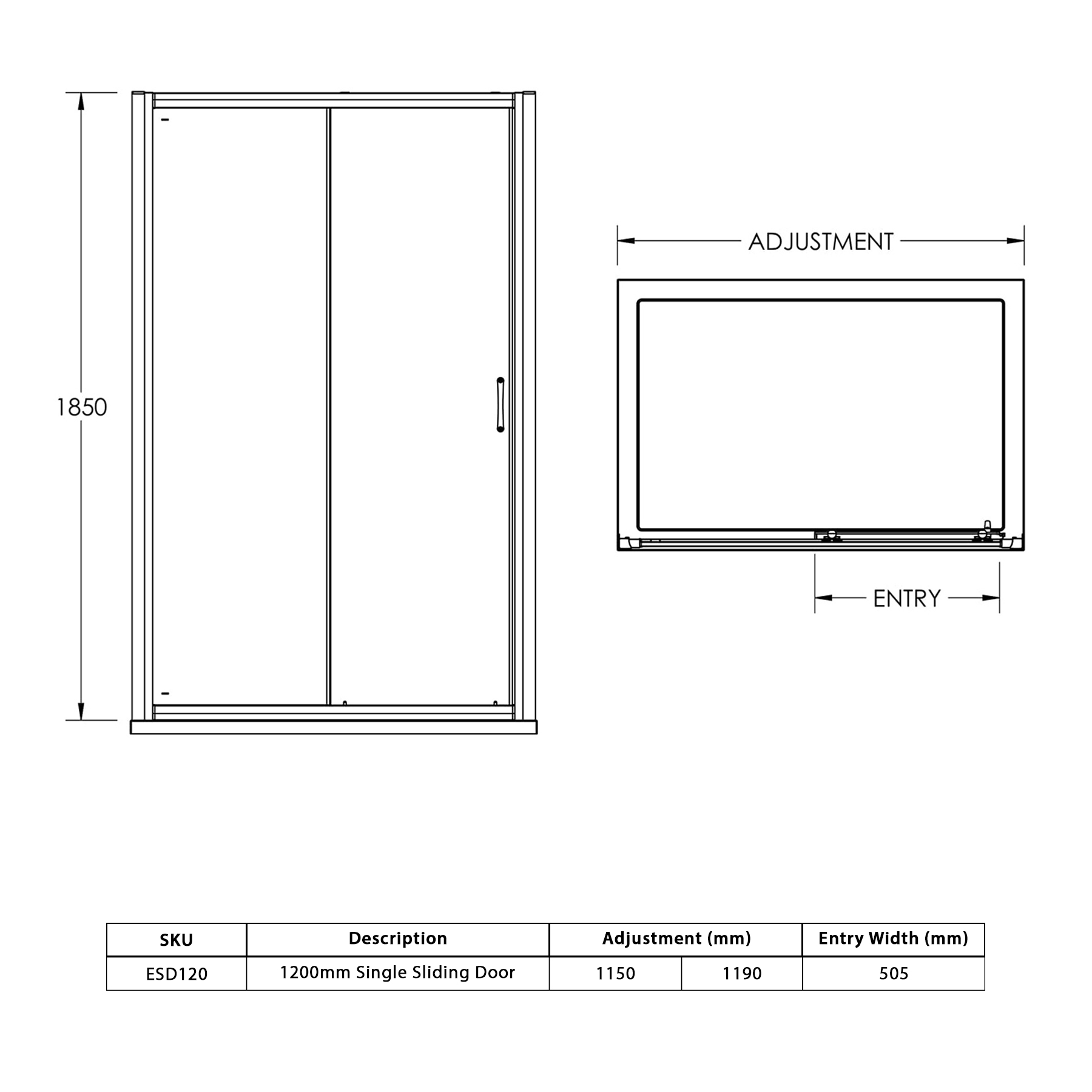 1200x760mm Single Sliding Door 6mm Glass Shower Enclosure Cubicle Side Panel 5509743357129 Ebay