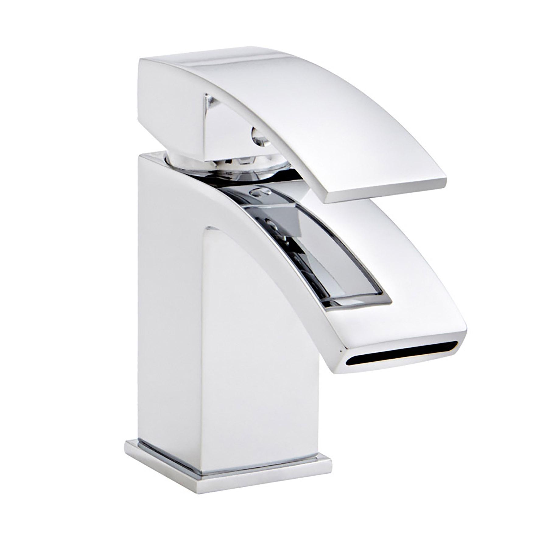 Modern Bathroom Chrome Flair Basin Mixer Sink Bath Filler Shower Tap ...