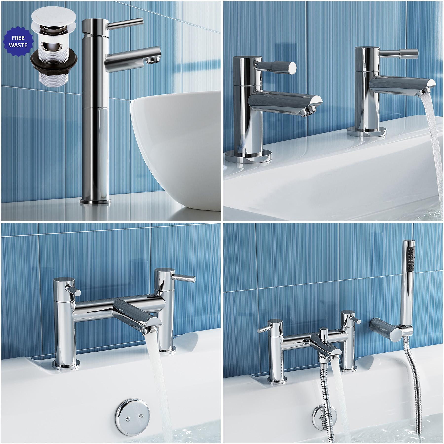 Bathroom Chrome Ultra Series 2 Bath Filler Basin Shower Mixer Taps ...
