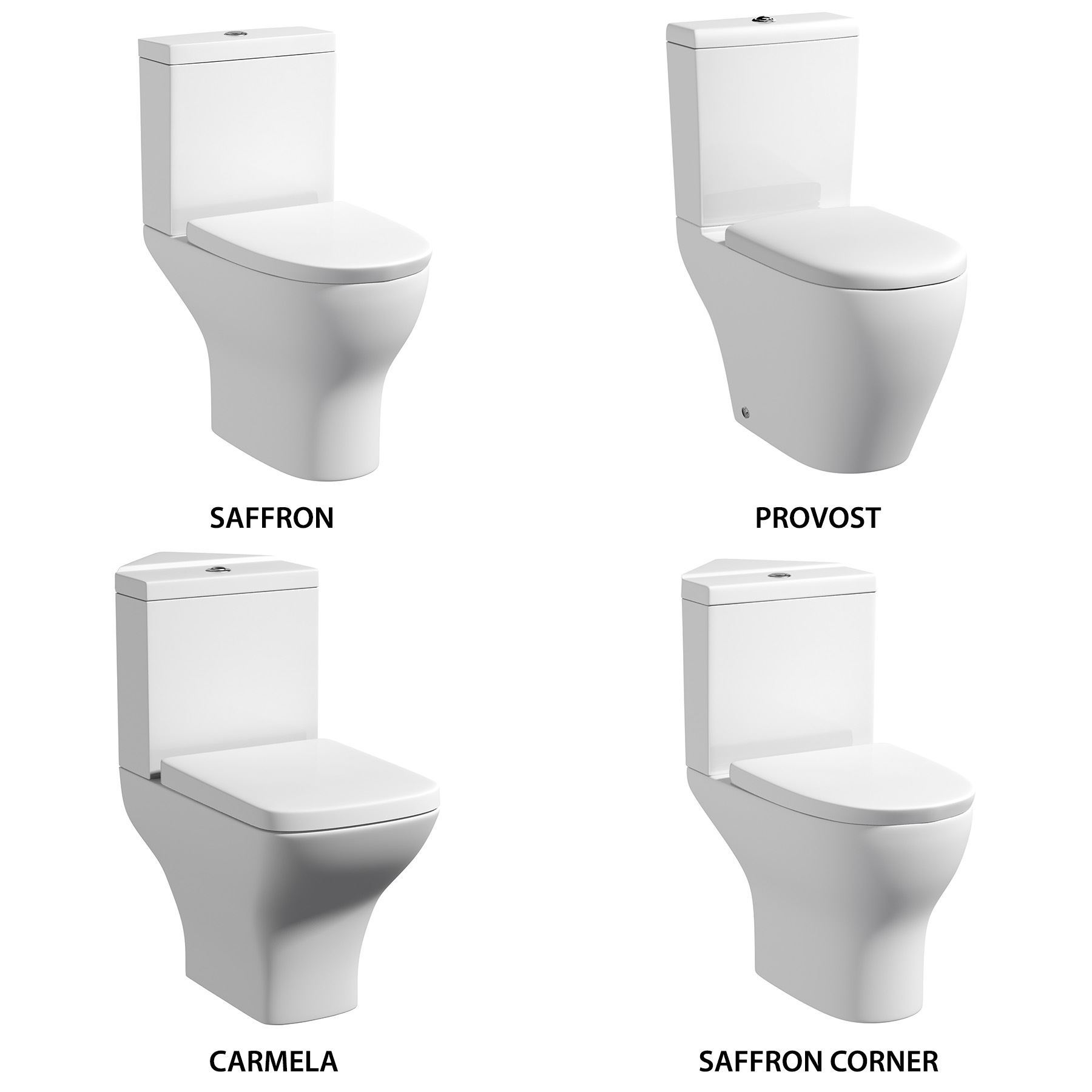 Bathroom Cloakroom WC White Semi Flush to Wall Toilet Cistern Pan ...