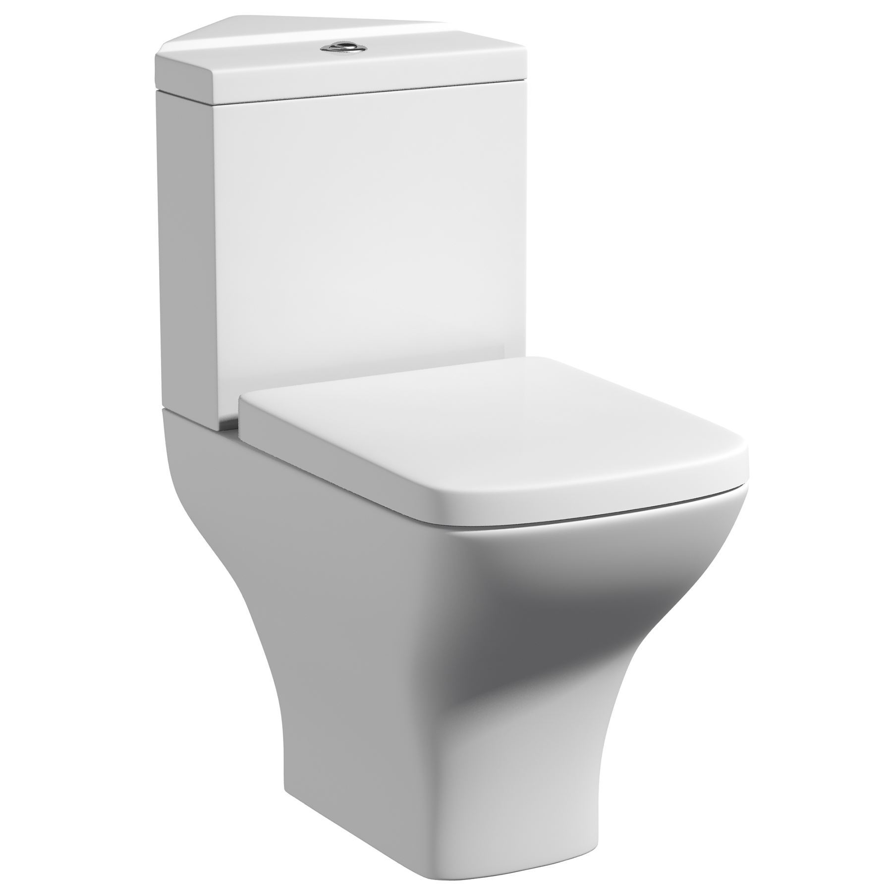 White Ceramic Bathroom Corner Toilet WC Pan Dual Flush Cistern ...