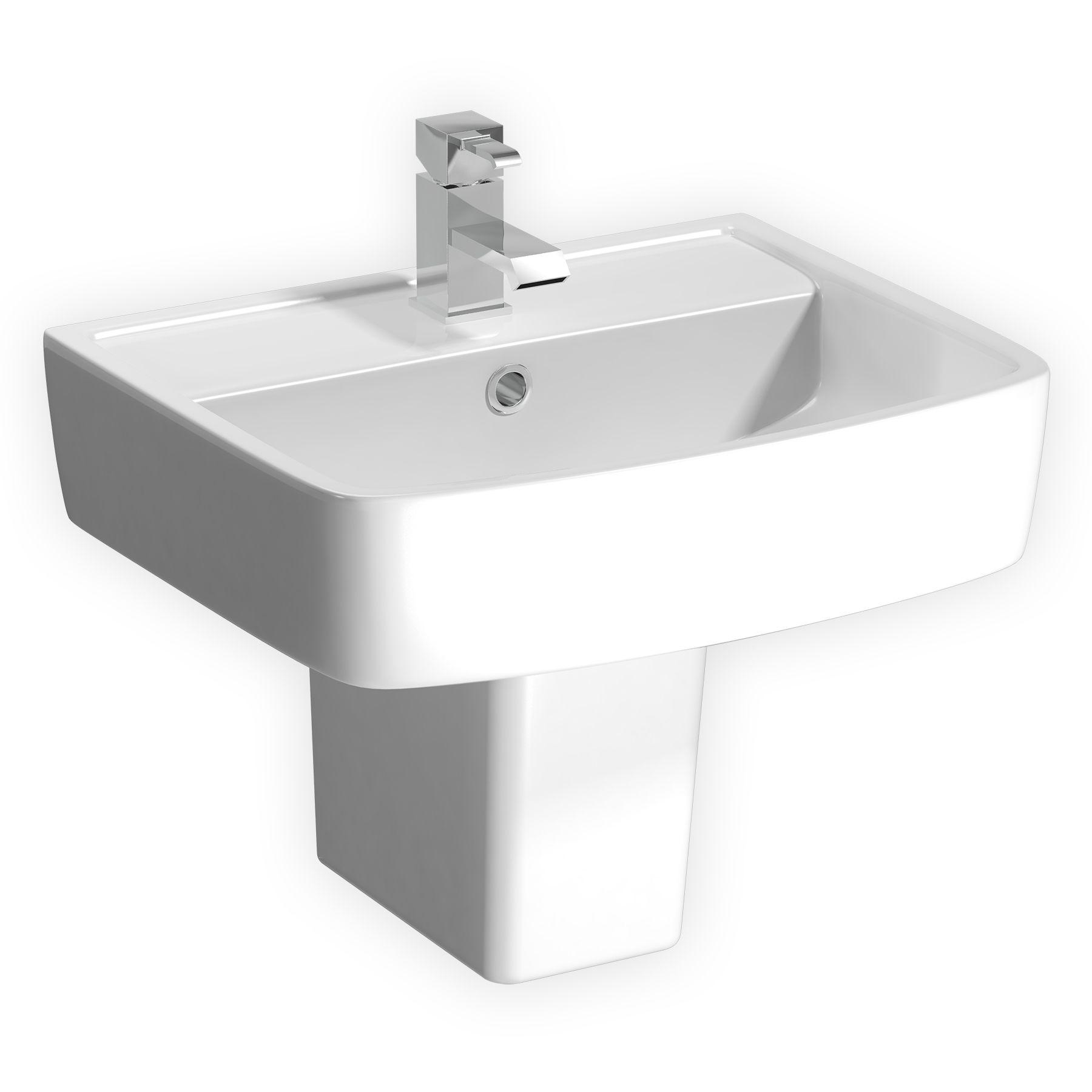 Modern Bathroom Close Coupled Toilet Amp 600mm Semi Pedestal